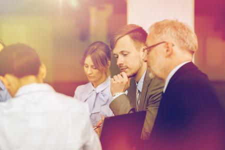 business people meeting: business people meeting in office