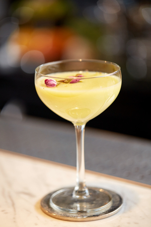 aperitive: glass of cocktail at bar or restaurant