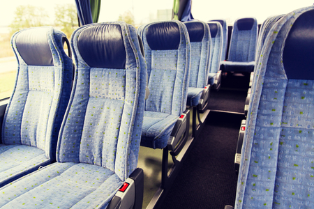 travel bus interior and seats Imagens