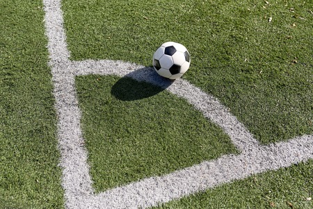 sport object: sport, soccer and game - ball on football field