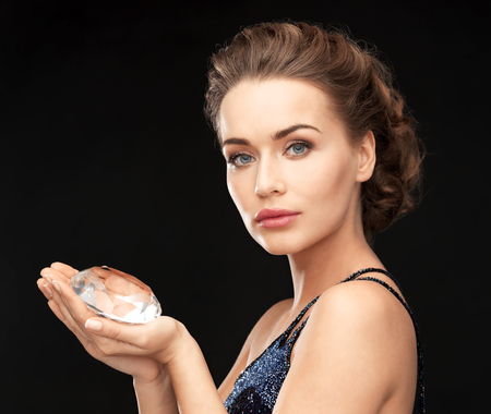 woman with big diamond photo