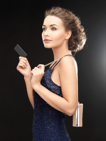 woman in evening dress photo