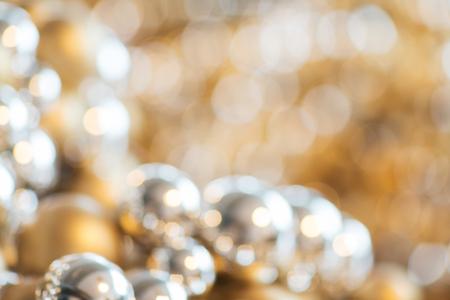 christmas balls decoration or beads bokeh