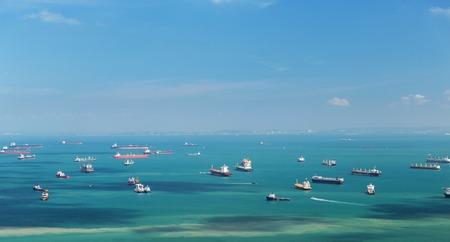 boats sailing in ocean Stok Fotoğraf