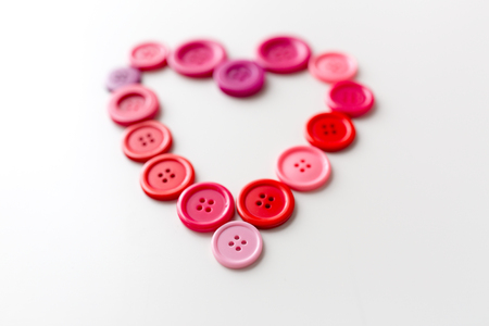 heart shape of sewing buttons