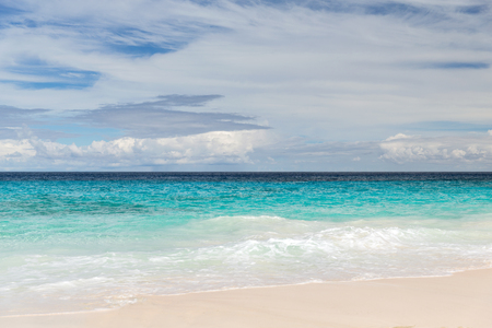 beach in indian ocean on seychelles Stock Photo