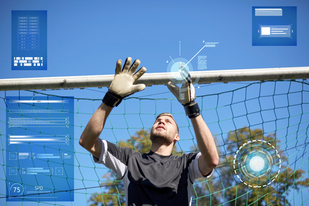 goalkeeper or soccer player at football goal Reklamní fotografie - 82198407