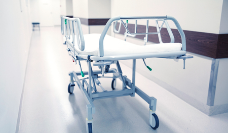 hospital gurney or stretcher at emergency room