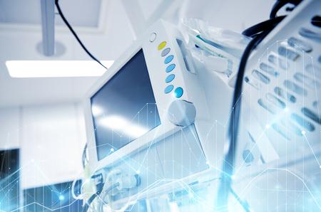 life support machine at hospital operating room Archivio Fotografico