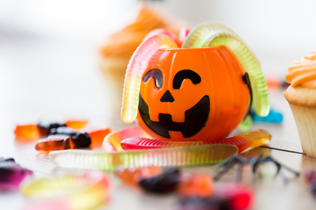gummy worms and candies for halloween party