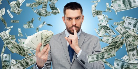 businessman with american dollar money photo
