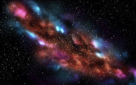 宇宙または夜空の星と銀河
