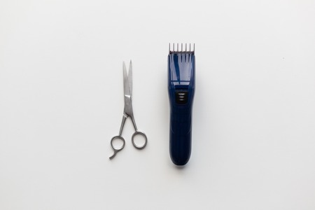 Hair Tools, Hairstyle And Hairdressing Concept - Trimmer Or Clipper ...
