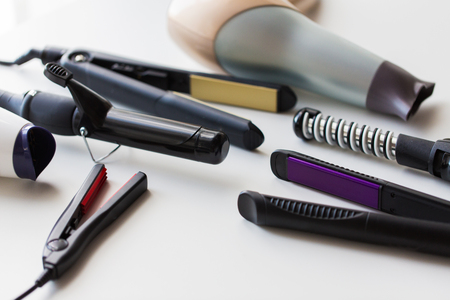 hot styling and curling irons with hairdryers
