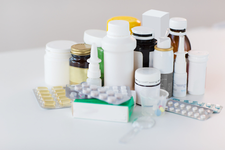 packs of different pills and medicine