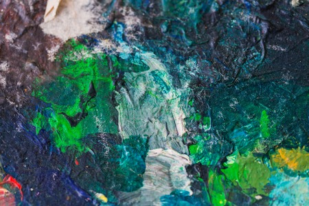 美術、創造性、コンセプト - カラフルな絵画のクローズアップ 写真素材
