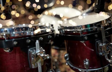 close up of drums at music studio Stok Fotoğraf