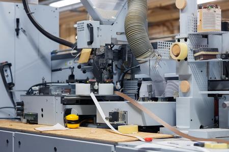 veneer or edge banding machine at factory