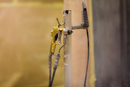 urethane finish or polish sprayer on hanger