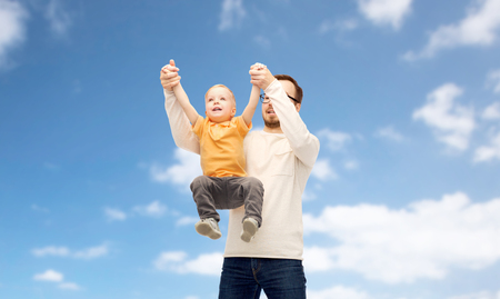 father with son playing and having fun