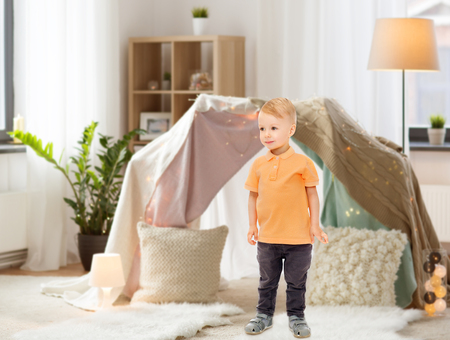 happy little boy at home Stok Fotoğraf