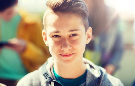 happy teenage boy face