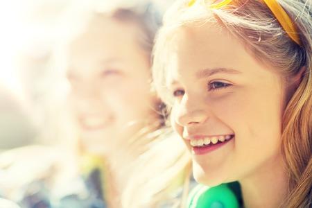 happy teenage girl face