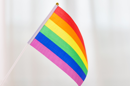 close up of pride rainbow flag