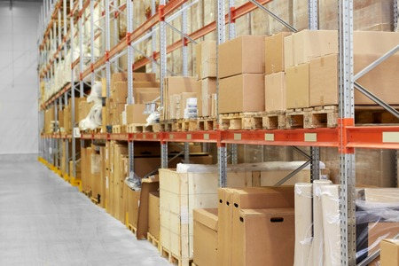 cargo storing at warehouse shelves
