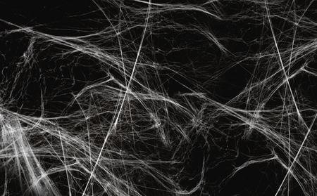 halloween-decoratie van spinnenweb over zwart