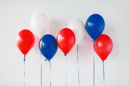party decoration with red, white and blue balloons Zdjęcie Seryjne
