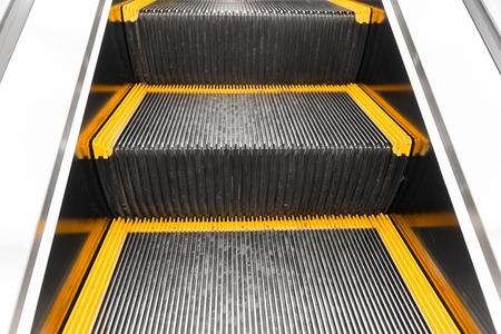 close up of escalator