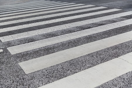 close up of crosswalk road surface marking