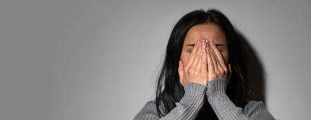 sad crying woman in despair