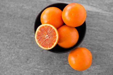 close up of fresh juicy blood oranges Stock Photo