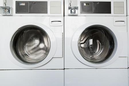 washing machines at laundromat