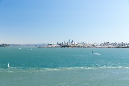view of san francisco city and pacific ocean