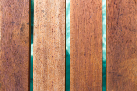 close up of wooden pier boards over water
