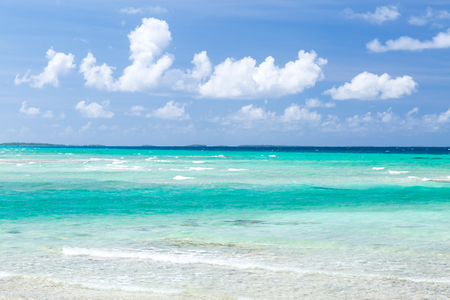sea and sky on beach in french polynesia