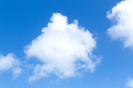 blue sky and clouds view Stock Photo