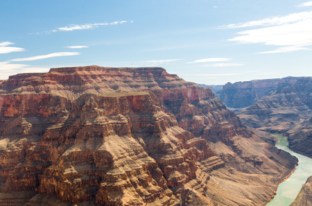 view of grand canyon cliffs and colorado river