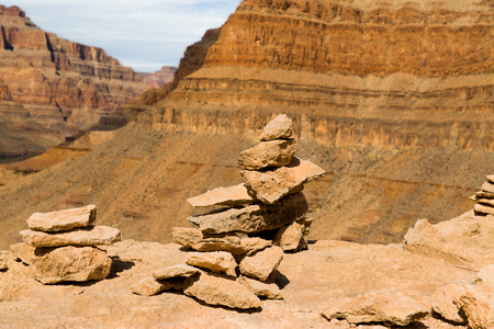 rocks in grand canyon Stock Photo