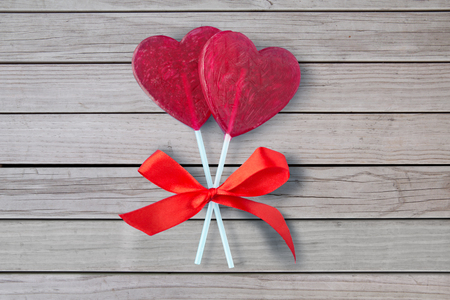 red heart shaped lollipops for valentines day