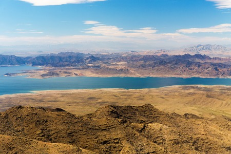 aerial view of grand canyon and lake mead Stock Photo