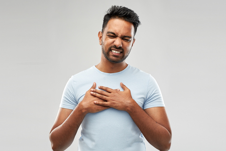 unhappy indian man suffering from heartache Standard-Bild
