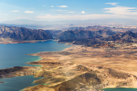aerial view of grand canyon and lake mead 版權商用圖片