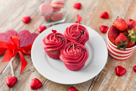 close up of red sweets for st valentines day Reklamní fotografie