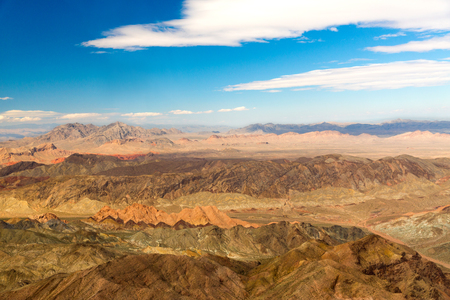 aerial view of grand canyon from helicopter Banco de Imagens