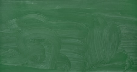school, education and learning concept - blank green chalkboard with smudged chalk traces