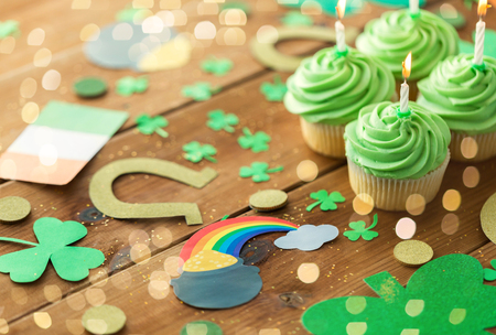 green cupcakes and st patricks day party props